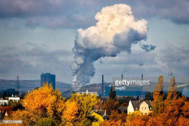 industrial autumn landscape in the ruhr, germany - ruhr stock pictures, royalty-free photos & images