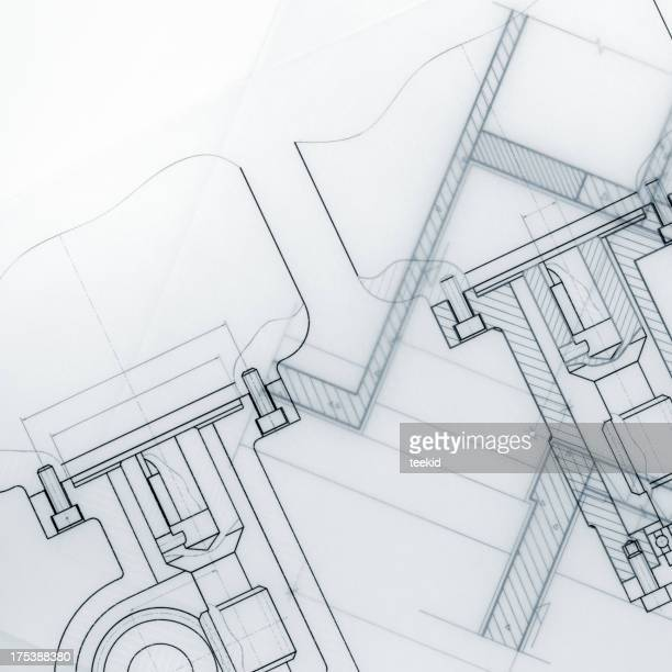 Electrical blueprint stock photos and pictures getty images industrial blueprint marco malvernweather Image collections