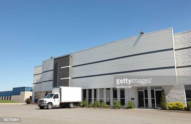 Industrial Building with service truck
