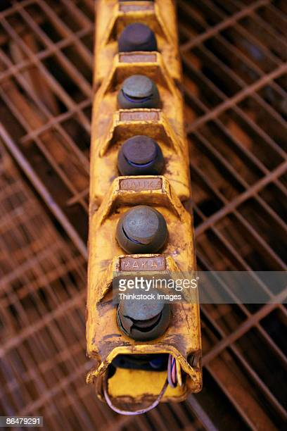 industrial buttons - thinkstock stock-fotos und bilder