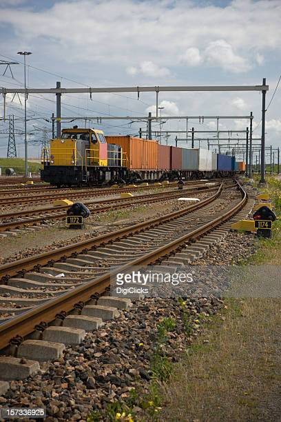 industrial cargo train - rail freight stock pictures, royalty-free photos & images