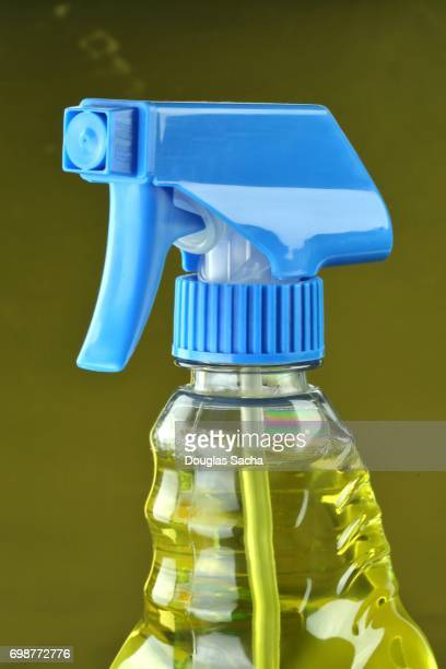 Industrial cleaning and disinfection product in a spray bottle