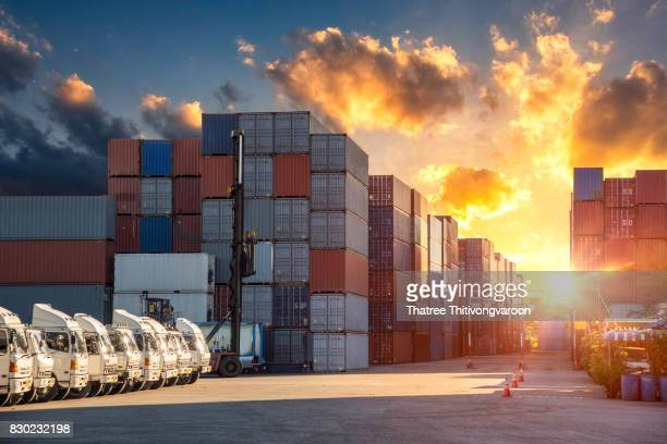 Industrial Container Cargo freight ship for Logistic Import Export background