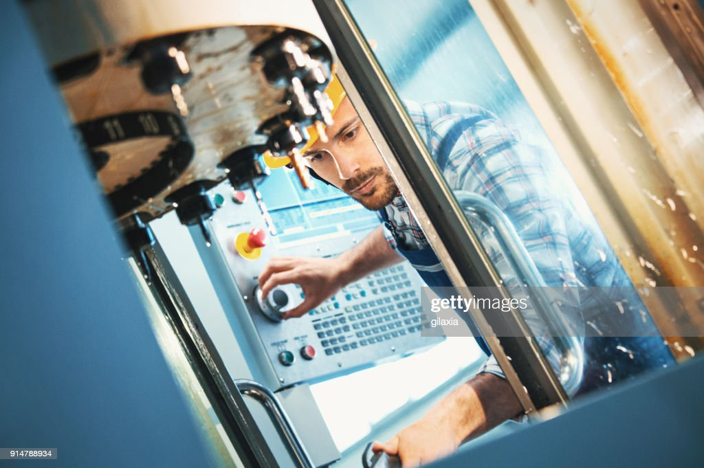 Industrial control room. : Stock Photo