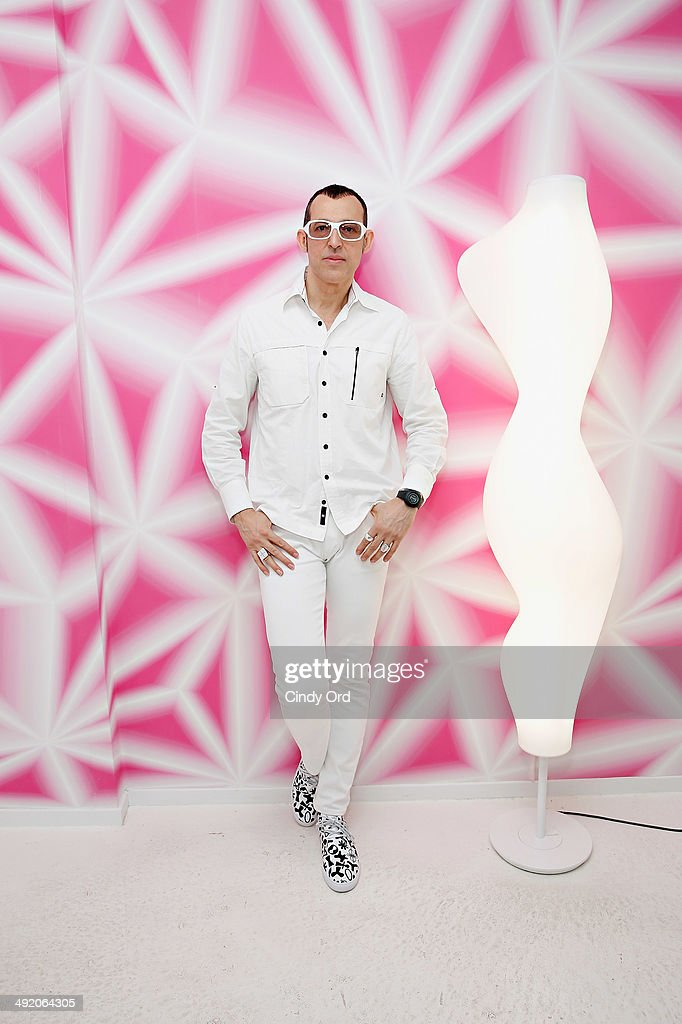 Industrial designer/ interior architect Karim Rashid attends the 10 Years of Karim Rashid and Tonelli Design cocktail party celebration at Karim Rashid Studio on May 18, 2014 in New York City.