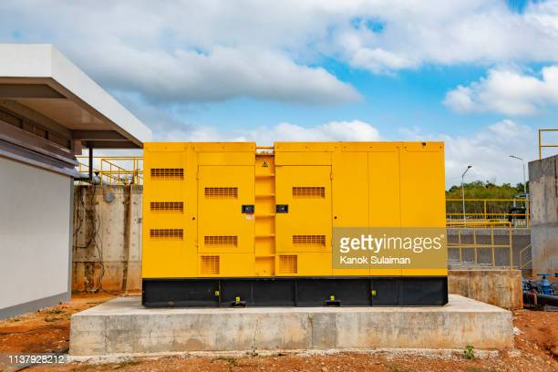 industrial diesel generator - generator stock pictures, royalty-free photos & images