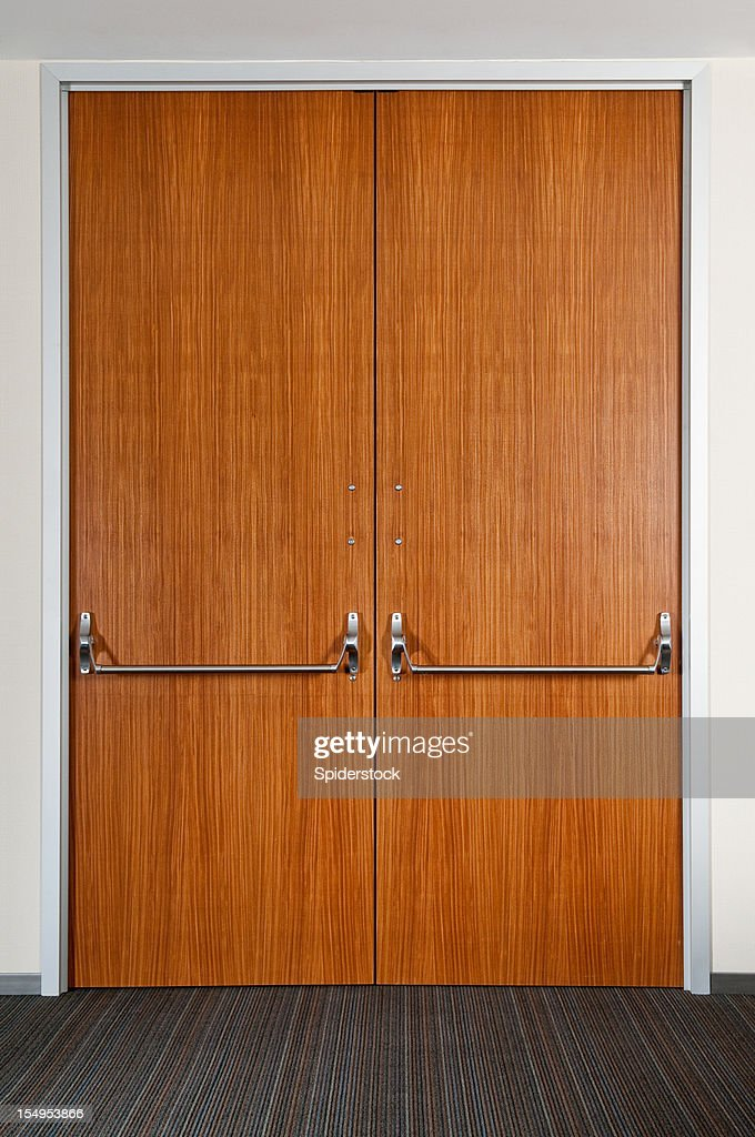 Industrial Double Door : Stock Photo