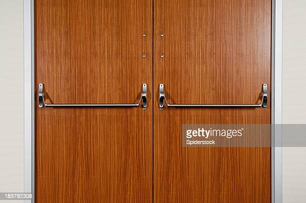 industrial double door - industrial door stock pictures, royalty-free photos & images