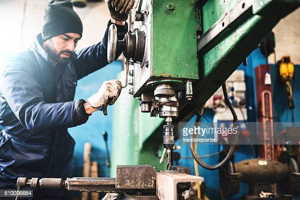 industrial engineer at the lathe machine