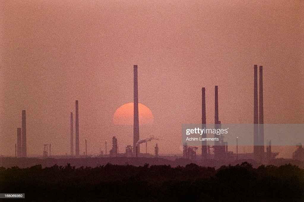 Industrial evening : Stock-Foto