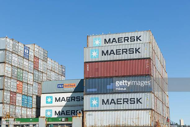 industrial freight shipping seattle usa - maersk stock pictures, royalty-free photos & images
