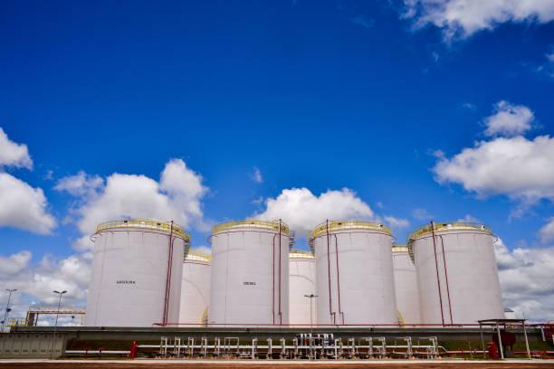 Industrial fuel storage tanks
