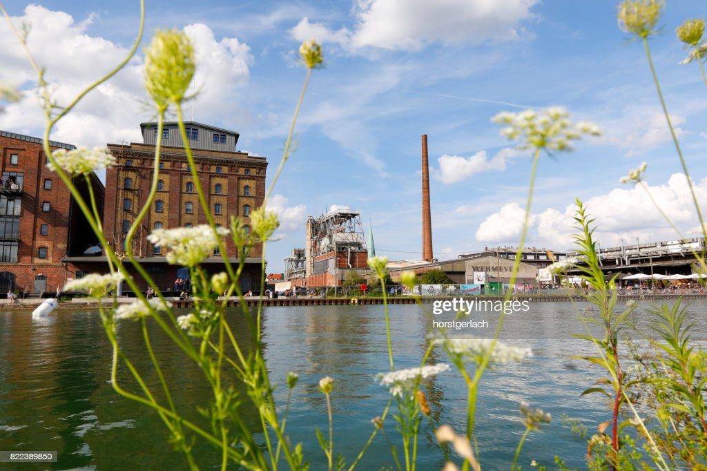 Industrial harbor of Münster, Germany : Stock Photo