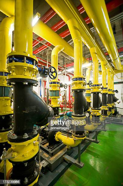 Industrial interior and pipes