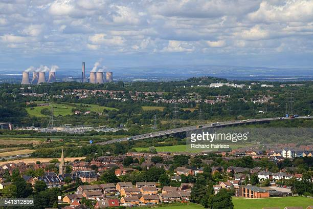 industrial landscape of the north west - warrington england stock pictures, royalty-free photos & images