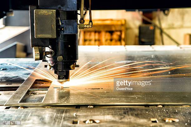 industrial laser cnc cutting machine - sheet metal stock pictures, royalty-free photos & images