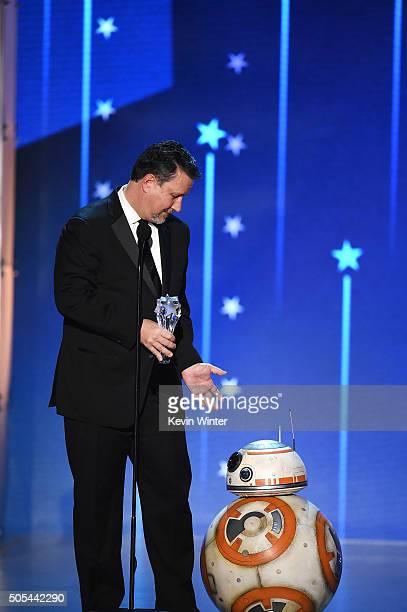 Industrial Light Magic Chief Creative Officer John Knoll accepts the Louis XIII Genius Award with BB8 onstage during the 21st Annual Critics' Choice...