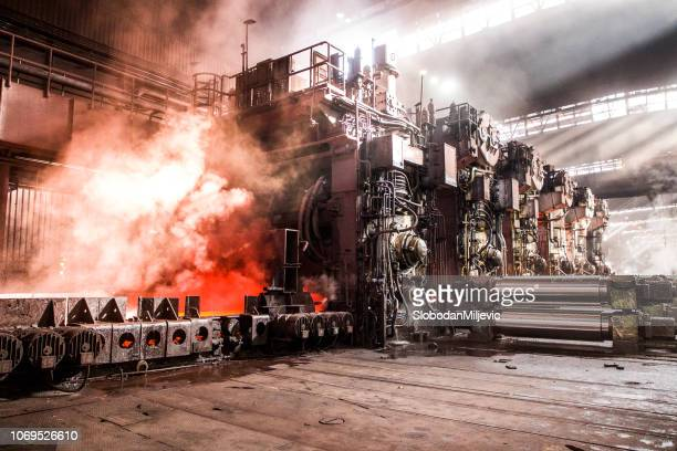 industrial metallurgy - steelmaking stock photos and pictures