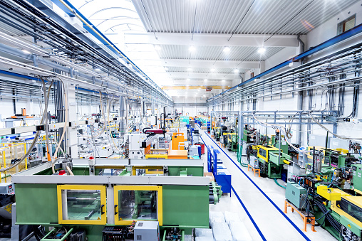 Industrial new factory & modern machines 664213136
