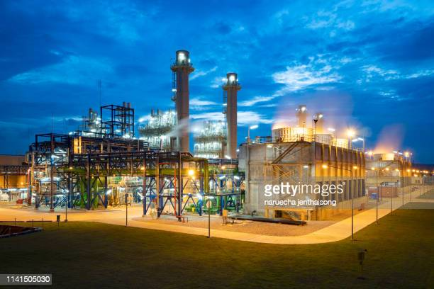industrial oil and gas production plants. - marine engineering stock pictures, royalty-free photos & images