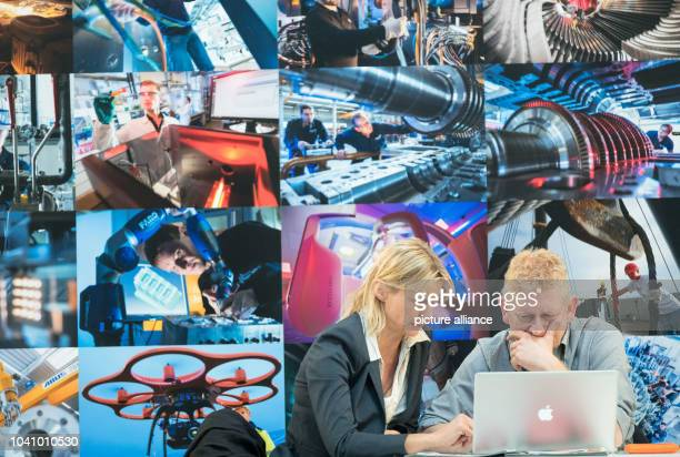Industrial photographers Silvia KroegerSteinbach and Christian Ahrens present their projects at the Hannover Messe industrial technology trade fair...