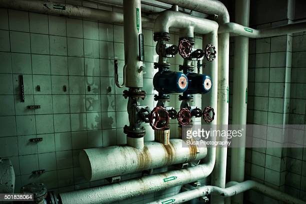 Industrial pipes in industrial interior