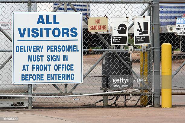 industrial plant entrance - metallic shoe stock pictures, royalty-free photos & images
