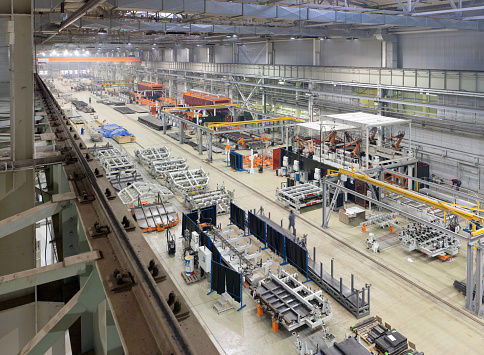 Industrial plant for the production of large mechanisms, machines and structures 1136735121