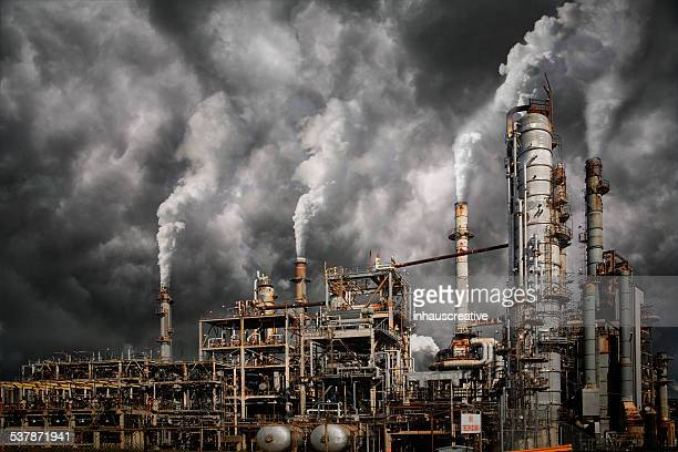 industrial pollution - global warming stock pictures, royalty-free photos & images