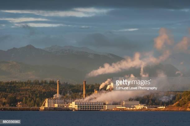 Industrial Pulp Mill in Port Townsend, Washington.