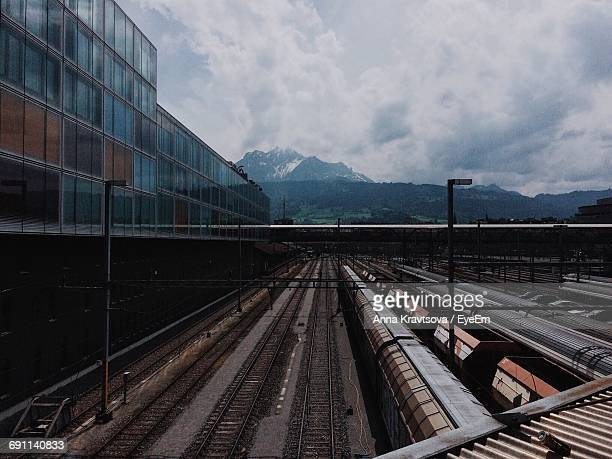 Industrial Railroad Tracks In Switzerland