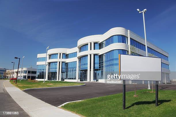 industrial real estate with sign - business community stock pictures, royalty-free photos & images