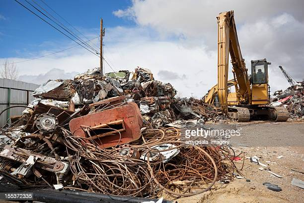 Tractor Salvage Yards : Construction equipment salvage yard stock photos and