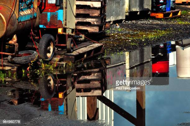 industrial reflections - hoogeveen stock pictures, royalty-free photos & images