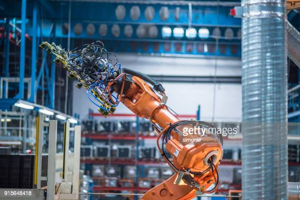 Industrial robotic arm working