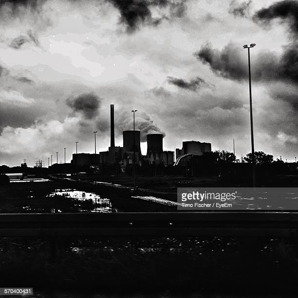 Industrial Smoke Stack Emitting Pollution
