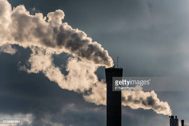 industrial smoke stack - smog stock pictures, royalty-free photos & images