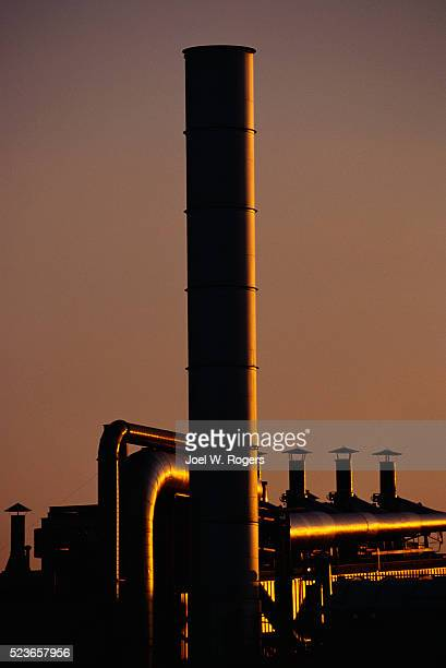 Industrial Smokestack and Pipes