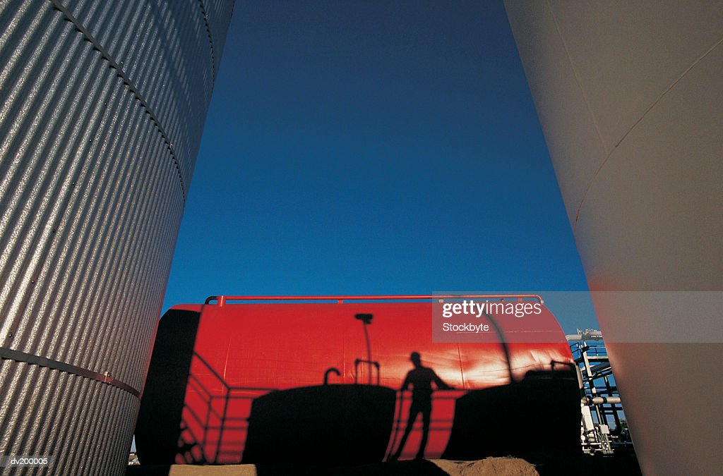Industrial storage tanks : Stock Photo
