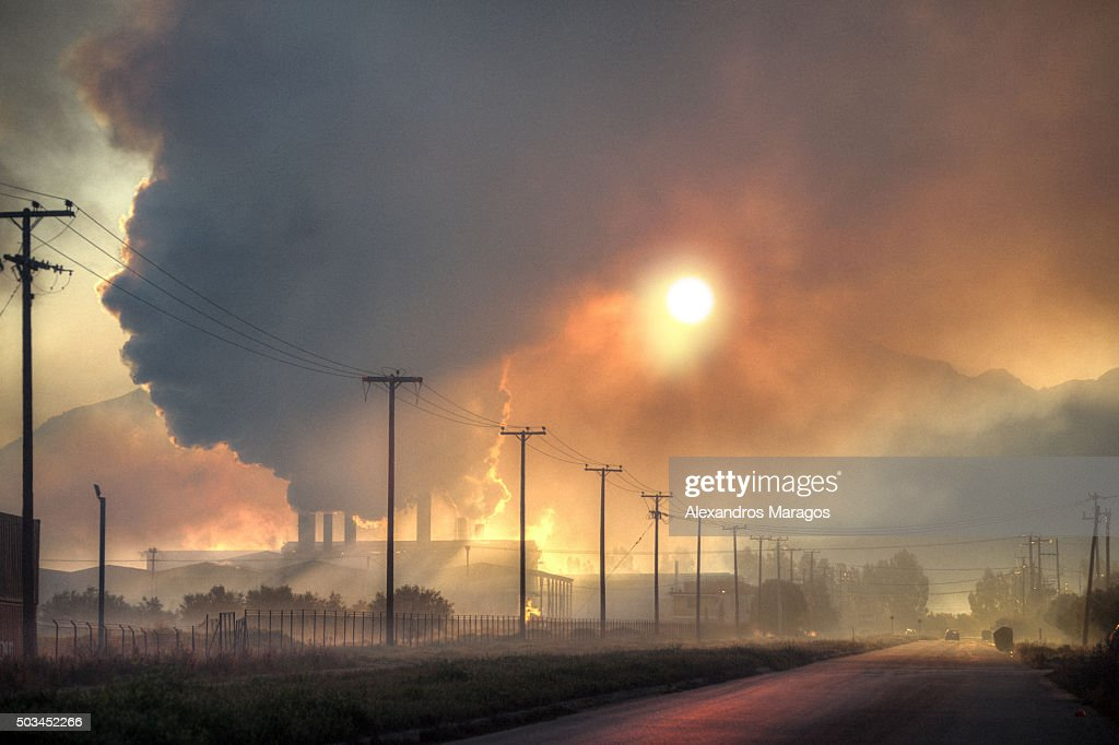Industrial Sunrise : Stock Photo