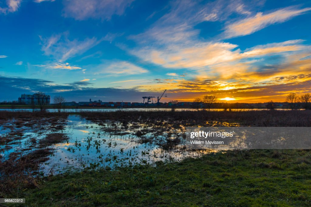 Industrial Sunset : Stockfoto