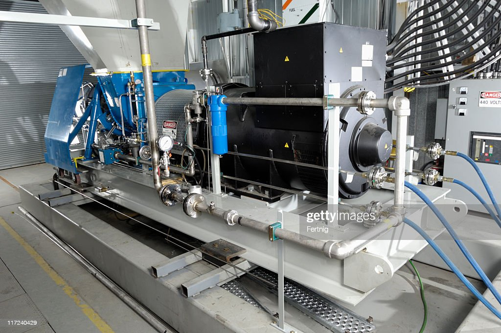 Industrial turbine generator set : Stock Photo