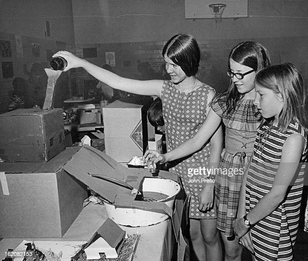JUN 3 1971 JUN 16 1971 Industrial Waste Produced At 'Factory' Hollett Elementary School students watch mock up of factory pollution Realistic...