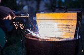 repair parts apparatus for manual arc