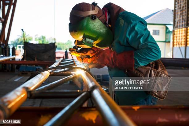 Industrial welder with welding tool
