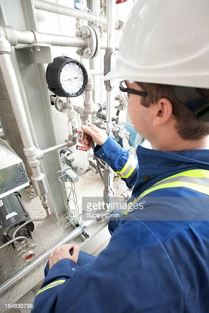 Industrial Worker At Industry Site