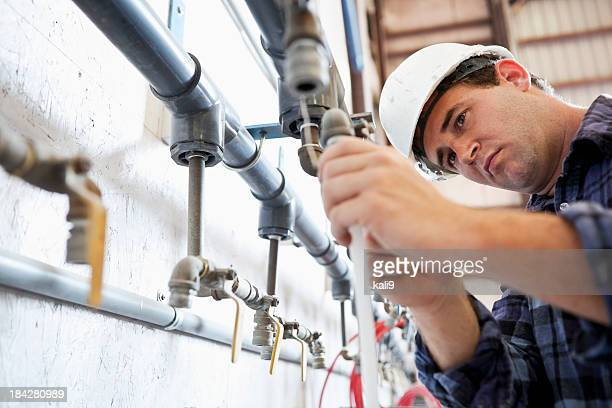 Industrial worker at manufacturing facility