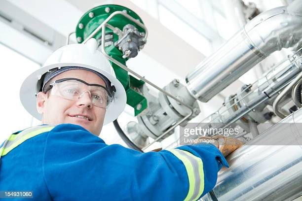 Industrial worker in a factory