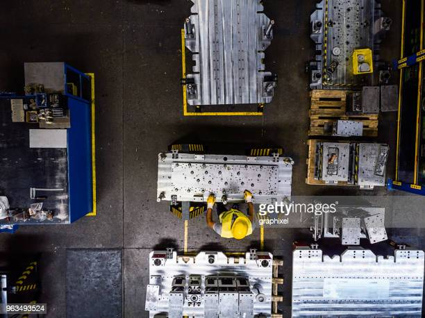 Industrial Worker in a Production Line