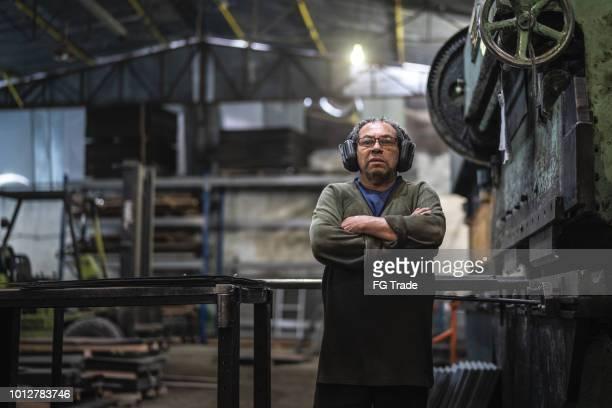 Industriële werknemer portret